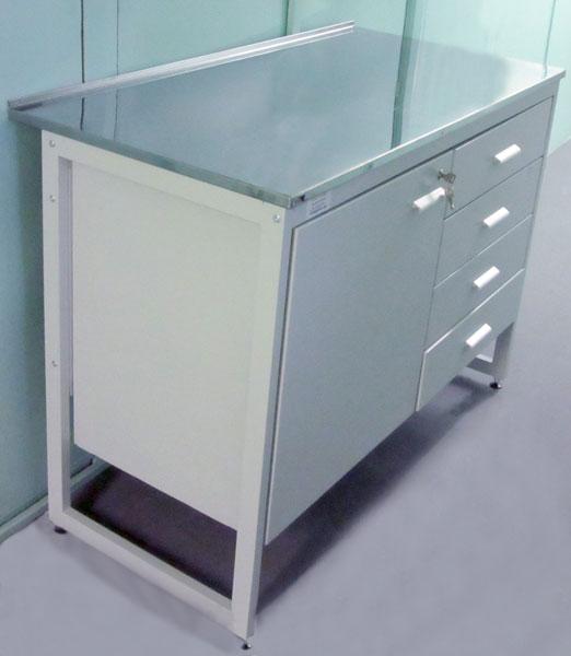 Стол для чистых помещений с тумбой - NordLine