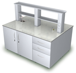 Лабораторная мебель ММЛ - Стол островной ММЛ-16