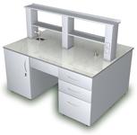 Лабораторная мебель ММЛ - Стол островной ММЛ-17