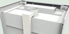 Лабораторная мебель NordLine - Шкафы вытяжные - Вид сверху