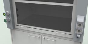 Лабораторная мебель NordLine - Шкафы вытяжные - Подъёмный экран